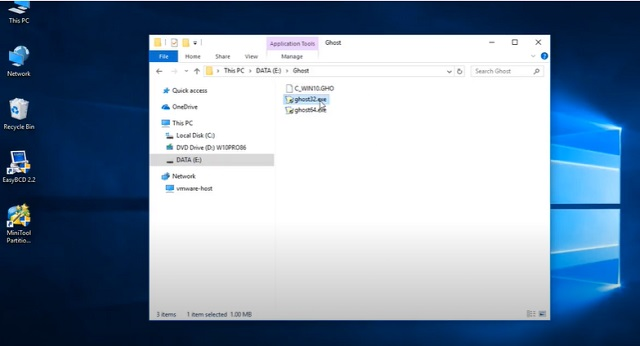 Bước 1: tải phần mềm kiểm tra file ghost