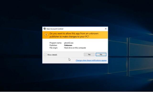 Bước 2: mở phần mềm kiểm tra file ghost