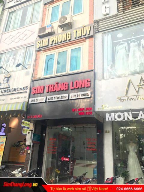 Cửa hàng Sim Thăng Long 22 Ô Chợ Dừa